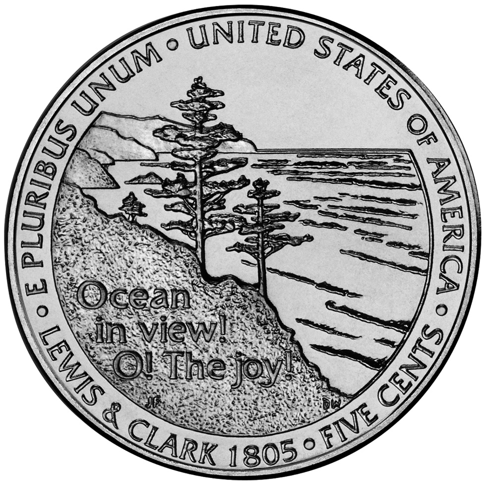 2005 Westward Journey Nickel Series Ocean In View! O! The Joy! Uncirculated Reverse