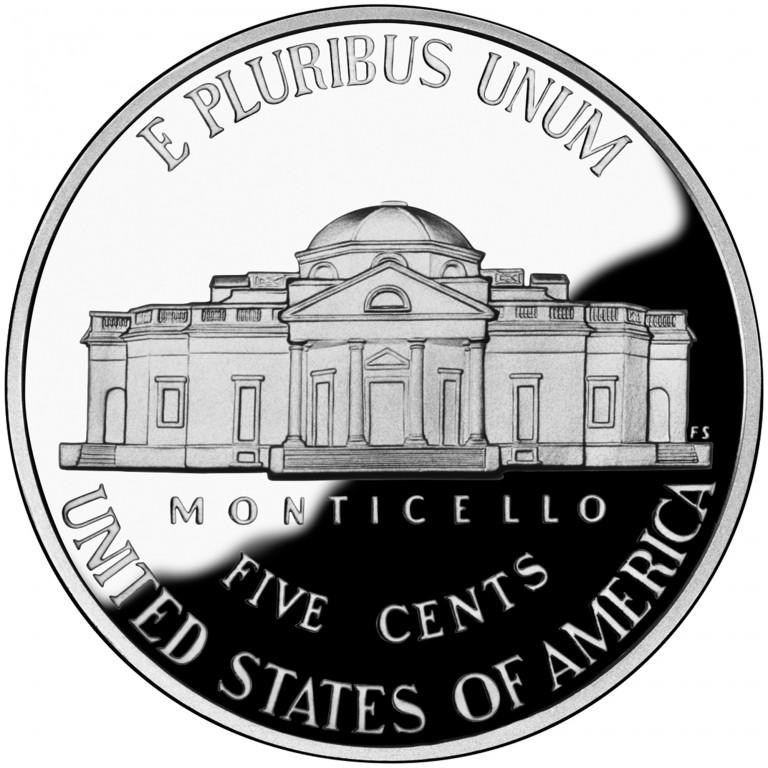 2006 Jefferson Nickel Proof Reverse