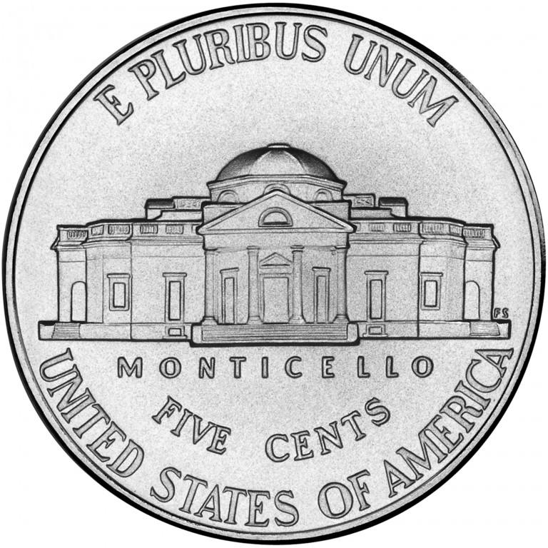 2006 Jefferson Nickel Uncirculated Reverse