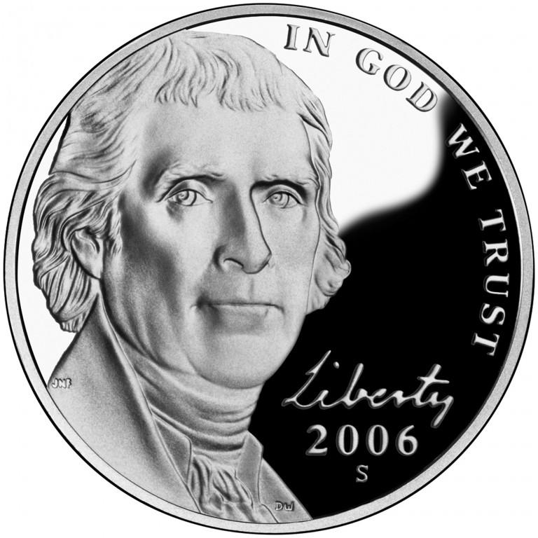2006 Jefferson Nickel Proof Obverse
