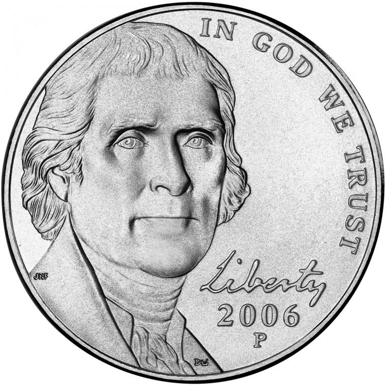 2006 Jefferson Nickel Uncirculated Obverse