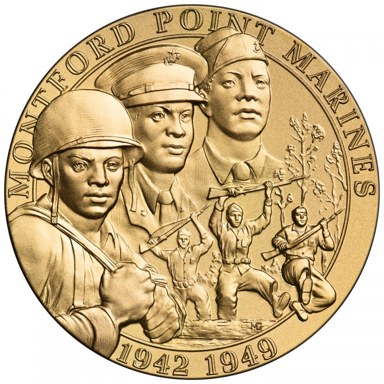 2011 Montford Point Marines Bronze Medal obverse sculpt
