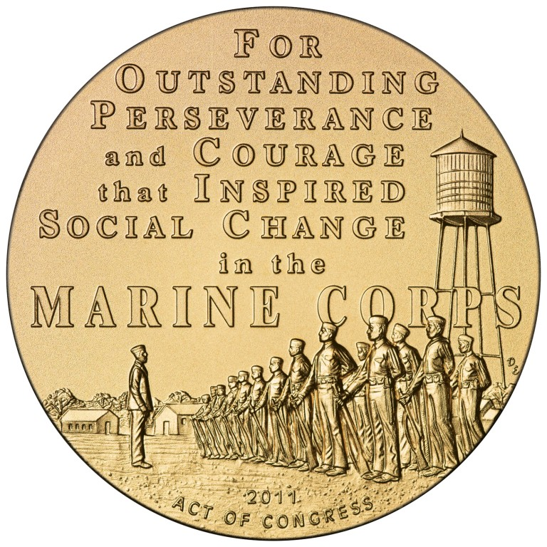 2011 Montford Point Marines Bronze Medal Reverse