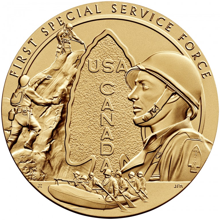 2013 First Special Service Force Bronze Medal Three Inch Obverse