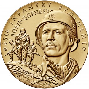 2014 65th Infantry Borinqueneers Bronze Medal Three Inch Obverse