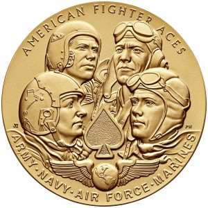 2014 American Fighter Aces Bronze Medal Obverse