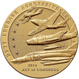 2014 American Fighter Aces Bronze Medal Reverse