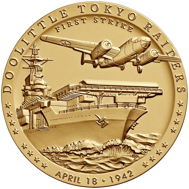 2014 Doolittle Toyko Raiders Bronze Medal Three Inch Obverse