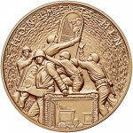 2015 Monuments Men Bronze Medal One And One Half Inch Obverse