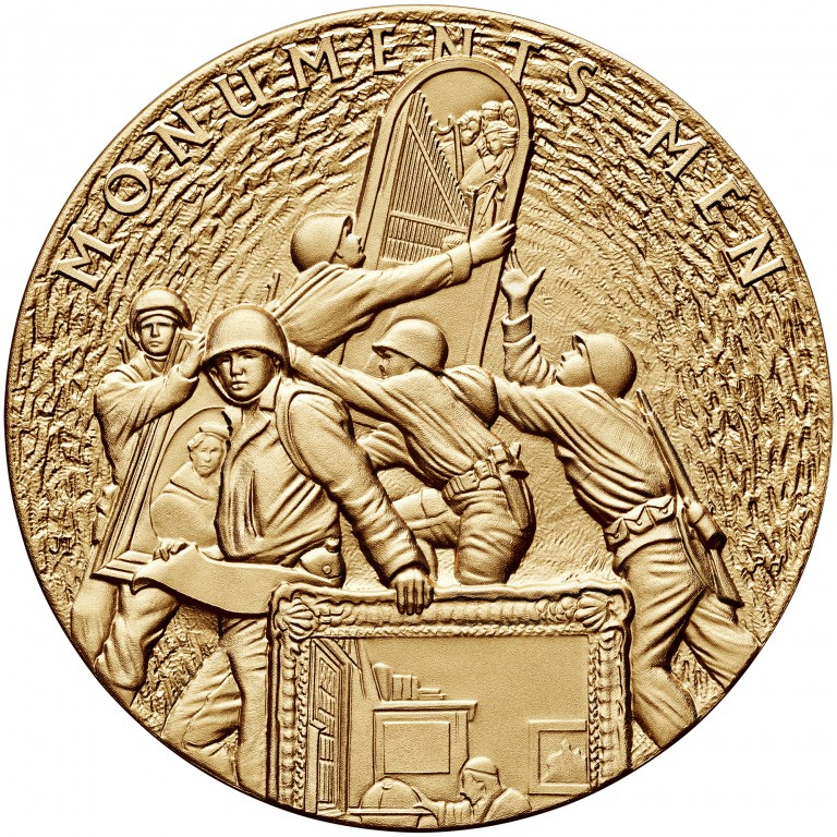 2015 Monuments Men Bronze Medal Three Inch Obverse
