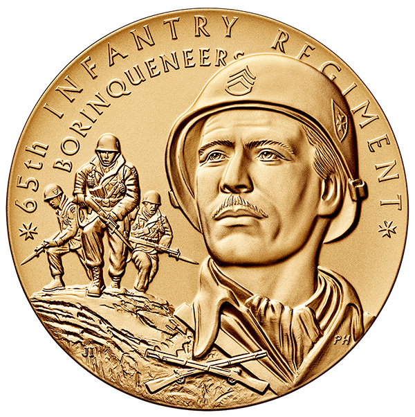 Borinqueneers Congressional Gold Medal - Bronze Obverse