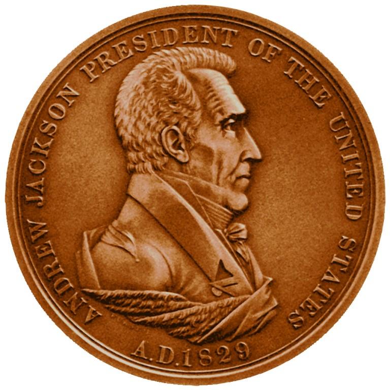 Andrew Jackson Presidential Bronze Medal Obverse