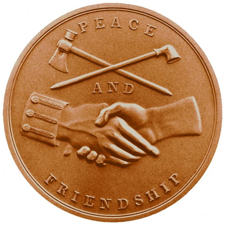 Andrew Jackson Presidential Bronze Medal Reverse