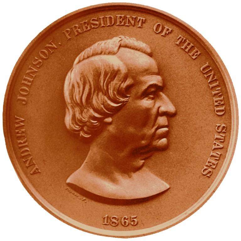 Andrew Johnson Presidential Bronze Medal Obverse