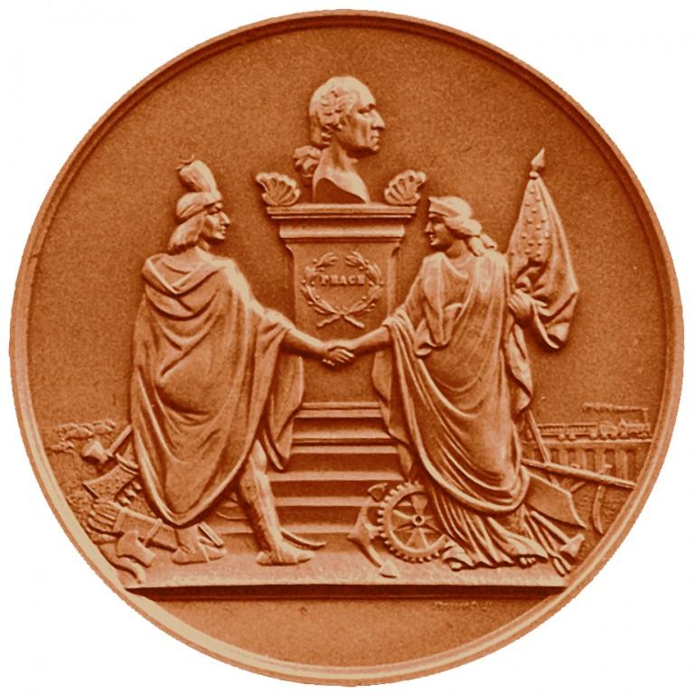 Andrew Johnson Presidential Bronze Medal Reverse