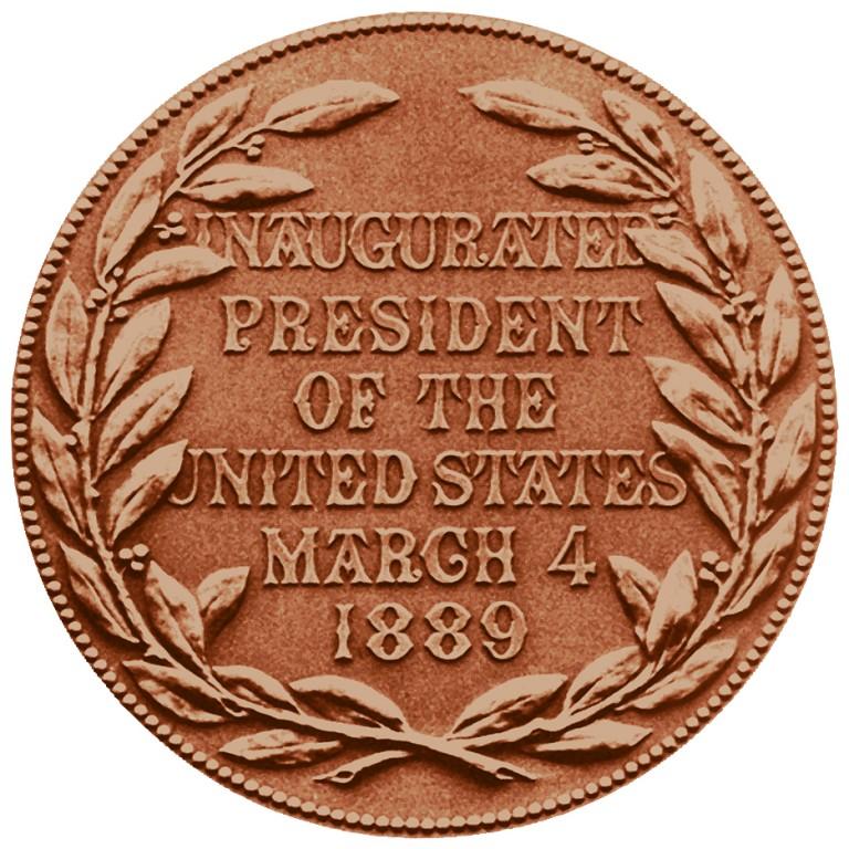 Benjamin Harrison Presidential Bronze Medal Reverse