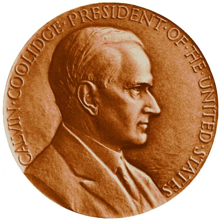 Calvin Coolidge Presidential Bronze Medal Obverse