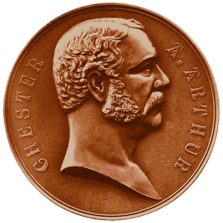 Chester A Arthur Presidential Bronze Medal Obverse