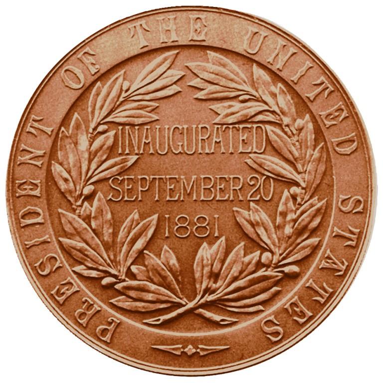Chester A Arthur Presidential Bronze Medal Reverse