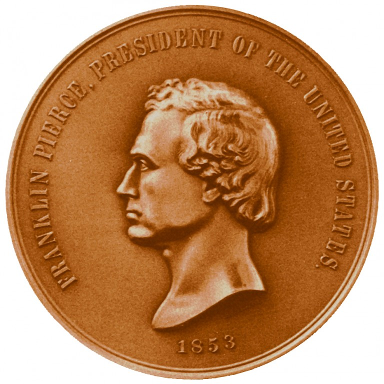 Franklin Pierce Presidential Bronze Medal Obverse
