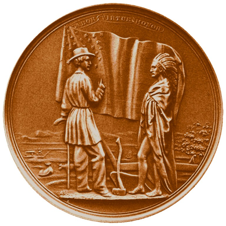Franklin Pierce Presidential Bronze Medal Reverse