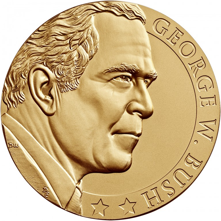 George W Bush Term 2 Presidential Bronze Medal Three Inch Obverse