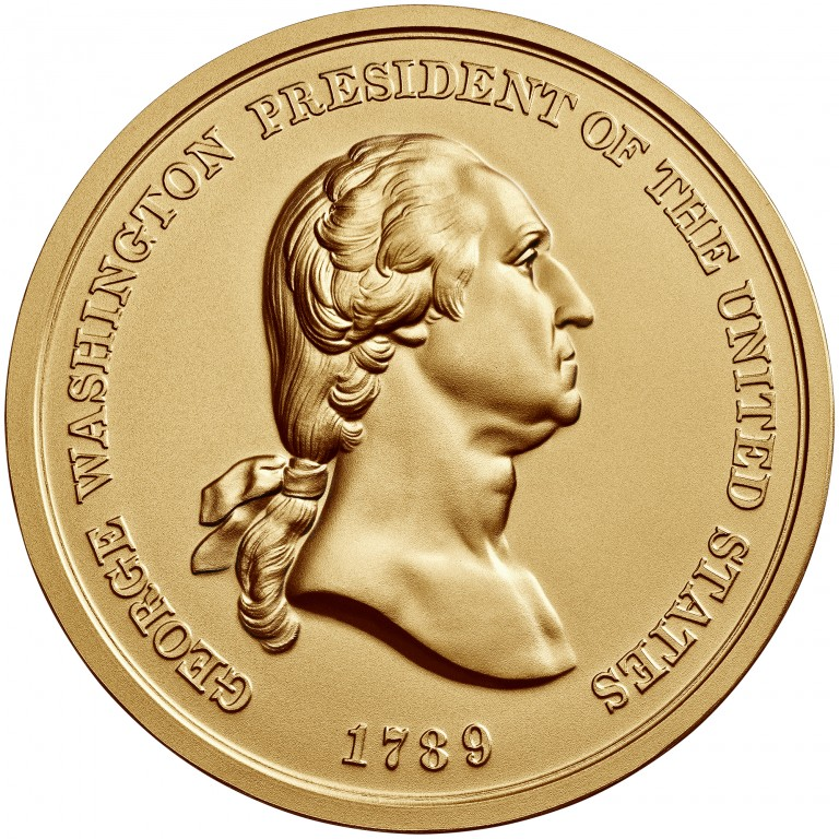 George Washington Presidential Bronze Medal Three Inch Obverse