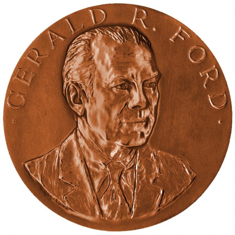 Gerald R Ford Presidential Bronze Medal Obverse
