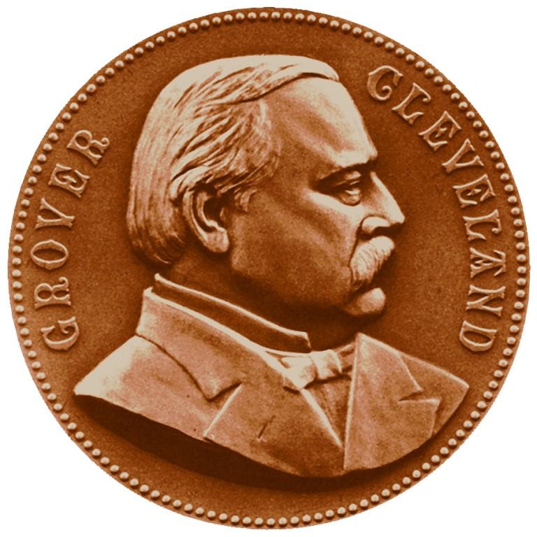 Grover Cleveland Presidential Bronze Medal Obverse