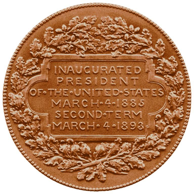 Grover Cleveland Presidential Bronze Medal Reverse