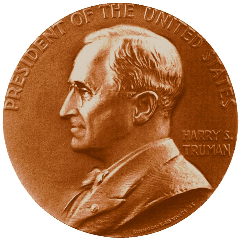 Harry S Truman Presidential Bronze Medal Obverse