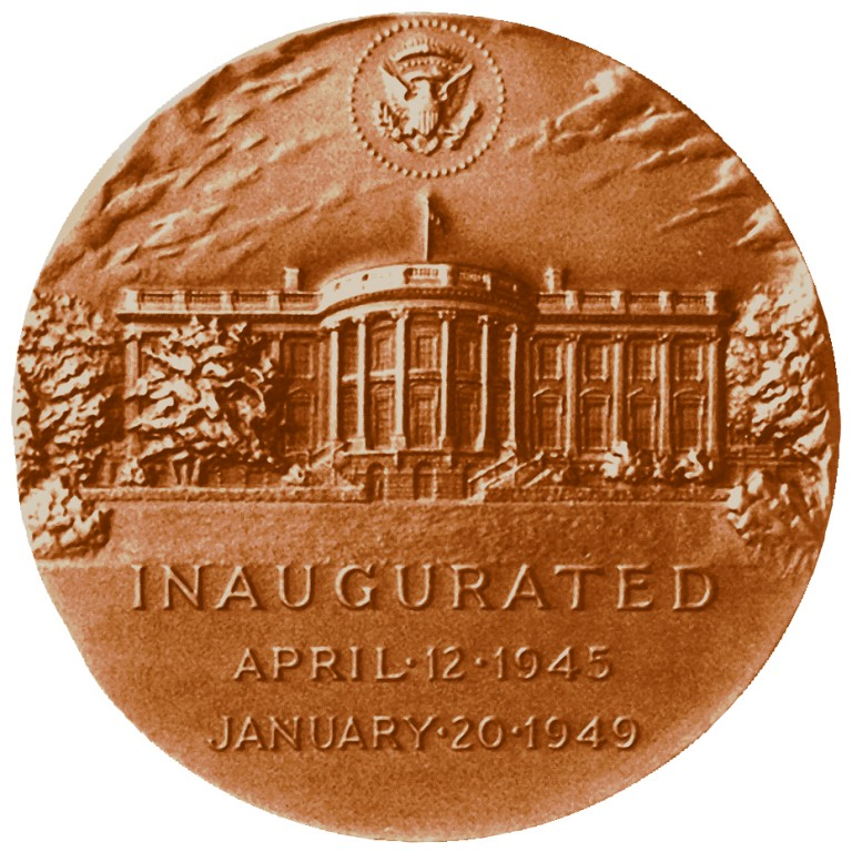 Harry S Truman Presidential Bronze Medal Reverse