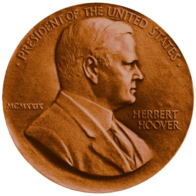Herbert Hoover Presidential Bronze Medal Obverse