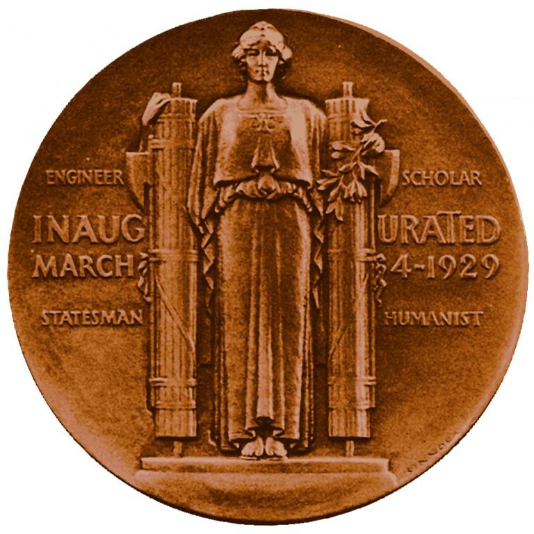 Herbert Hoover Presidential Bronze Medal Reverse