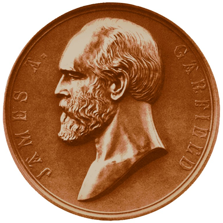 James A Garfield Presidential Bronze Medal Obverse