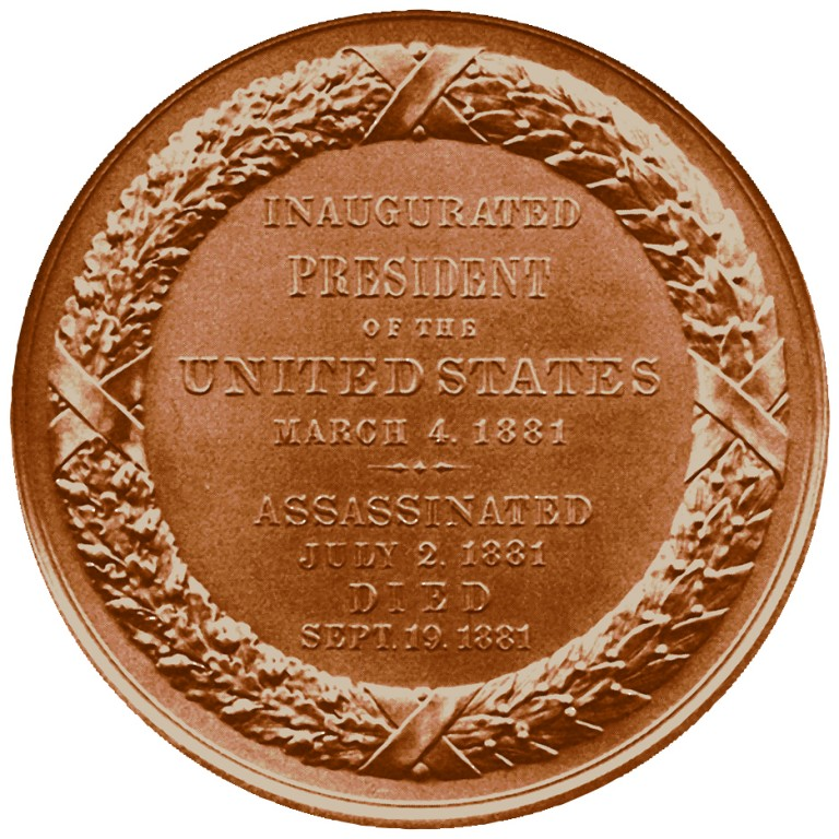 James A Garfield Presidential Bronze Medal Reverse