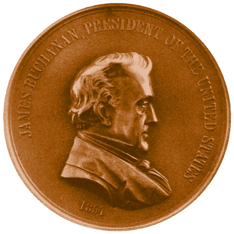 James Buchanan Presidential Bronze Medal Obverse