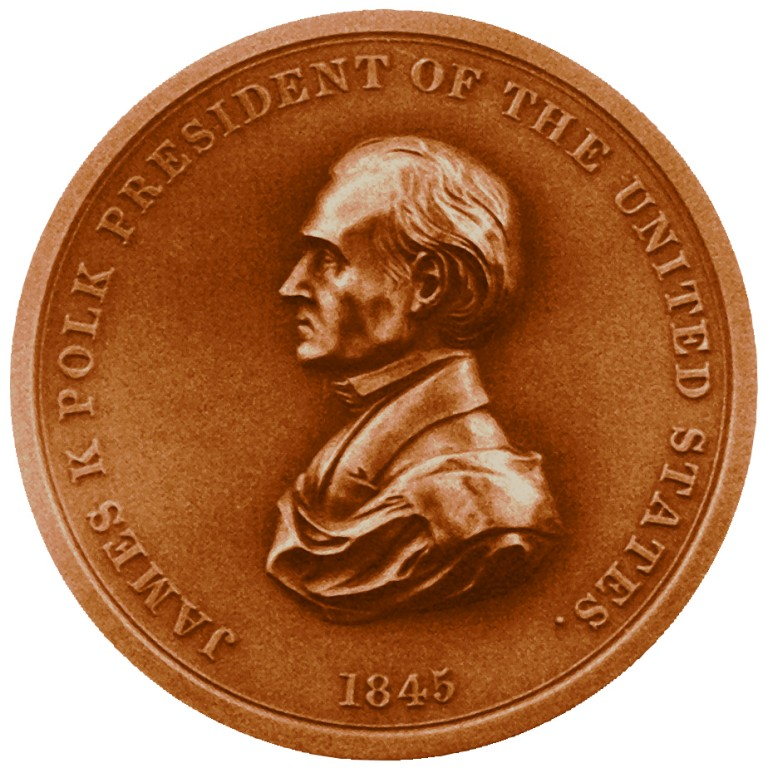 James K Polk Presidential Bronze Medal Obverse