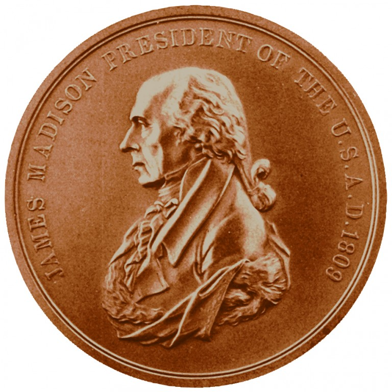 James Madison Presidential Bronze Medal Obverse