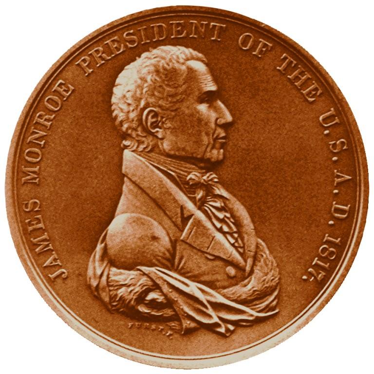 James Monroe Presidential Bronze Medal Obverse