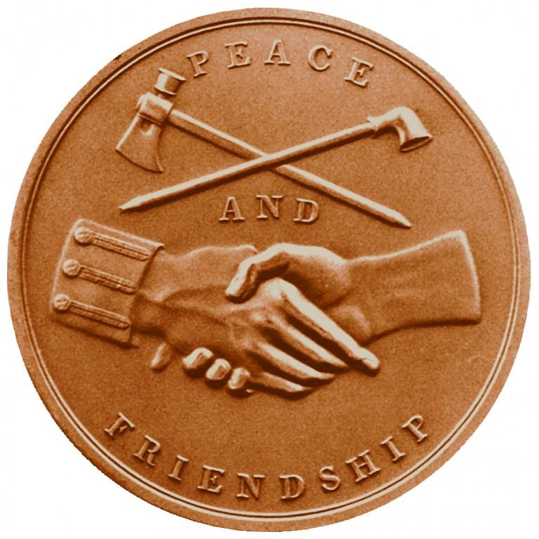 James Monroe Presidential Bronze Medal Reverse