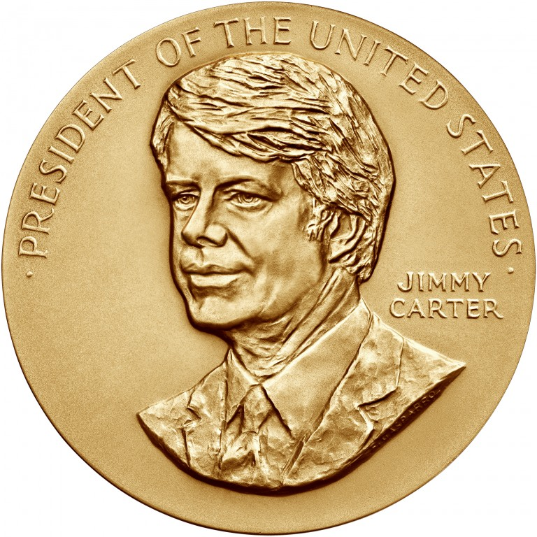 Jimmy Carter Presidential Bronze Medal Three Inch Obverse