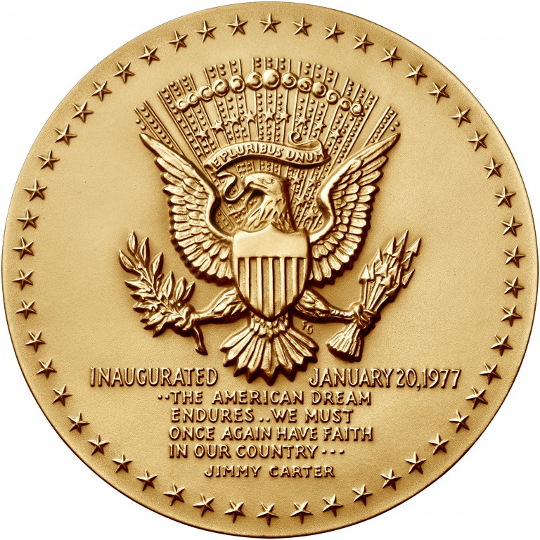 Jimmy Carter Presidential Bronze Medal Three Inch Reverse