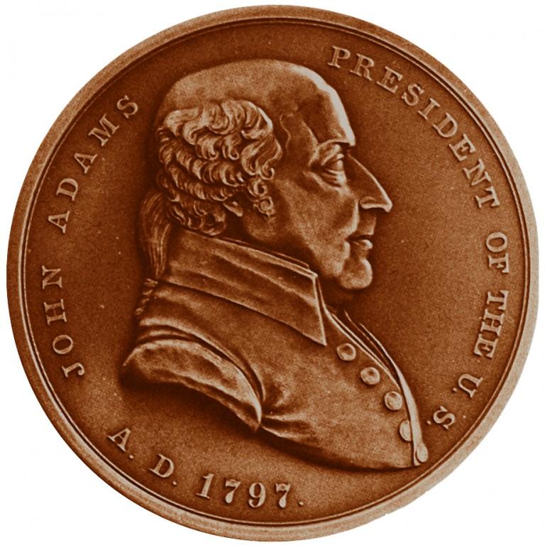 John Adams Presidential Bronze Medal Obverse
