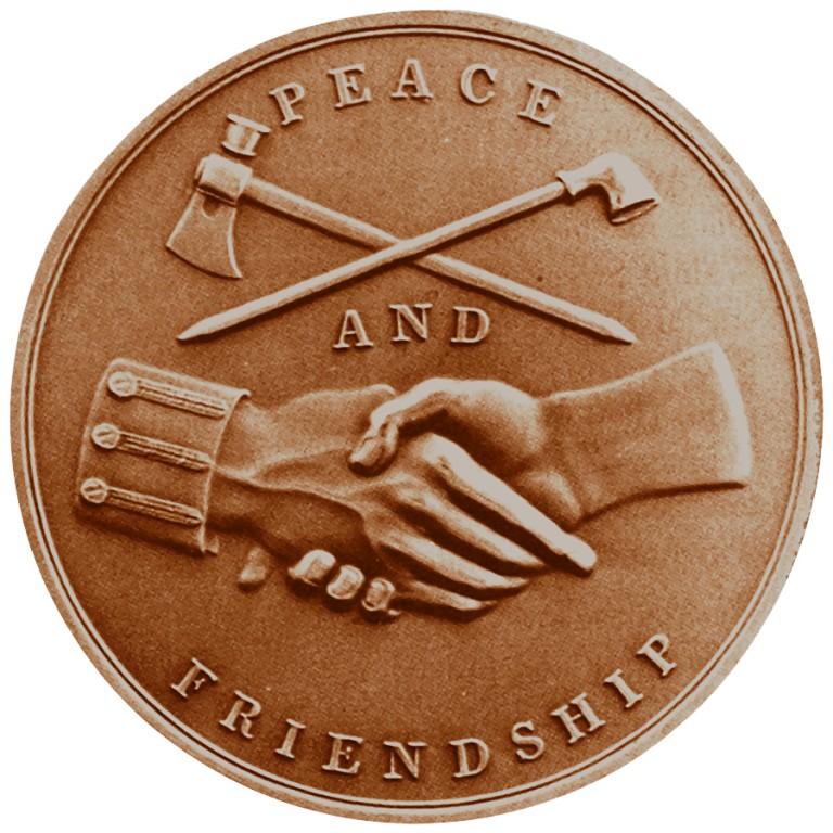 John Adams Presidential Bronze Medal Reverse