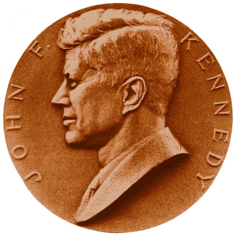 John F Kennedy Presidential Bronze Medal Obverse