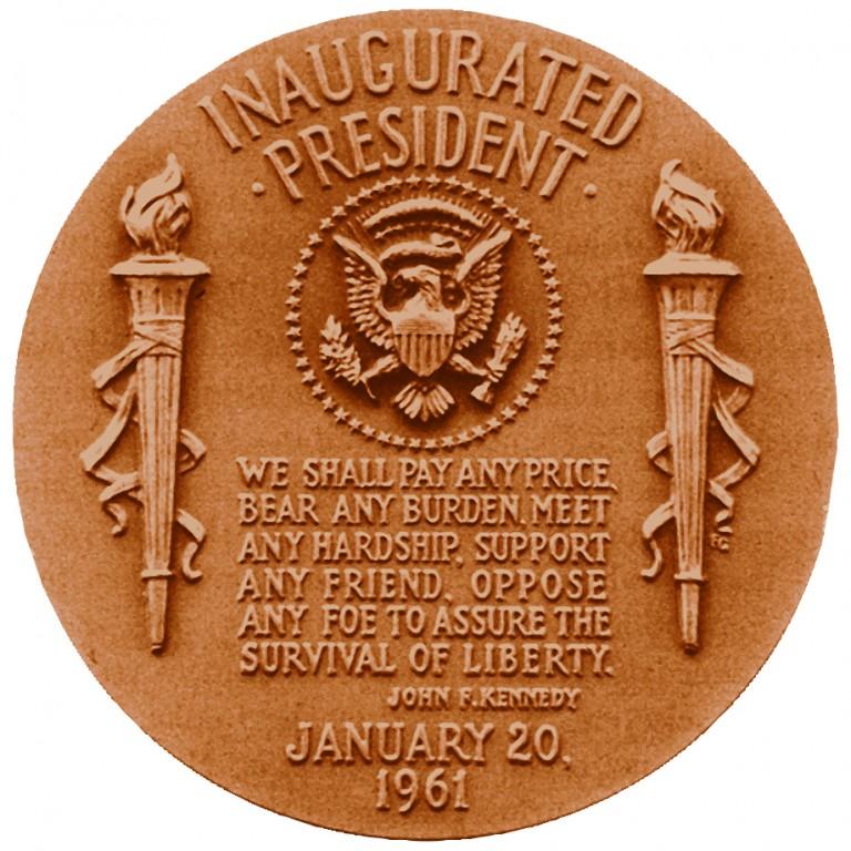 John F Kennedy Presidential Bronze Medal Reverse