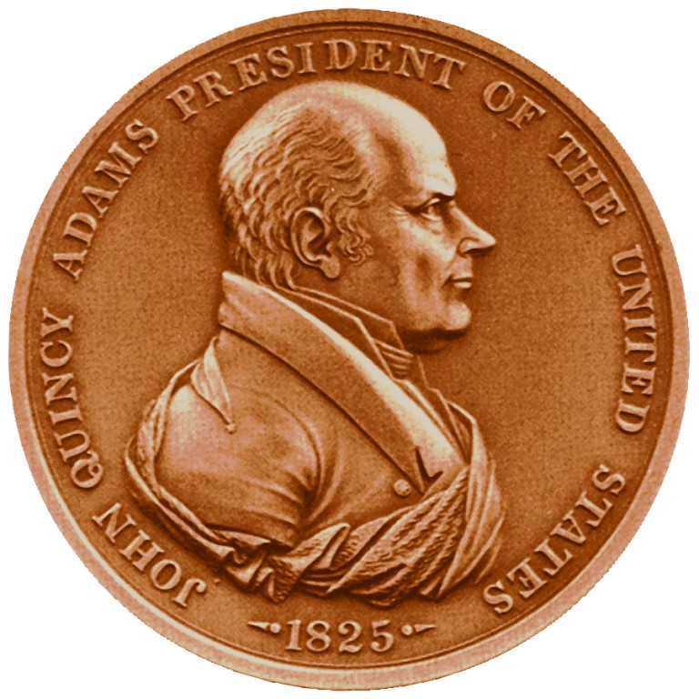 John Quincy Adams Presidential Bronze Medal Obverse