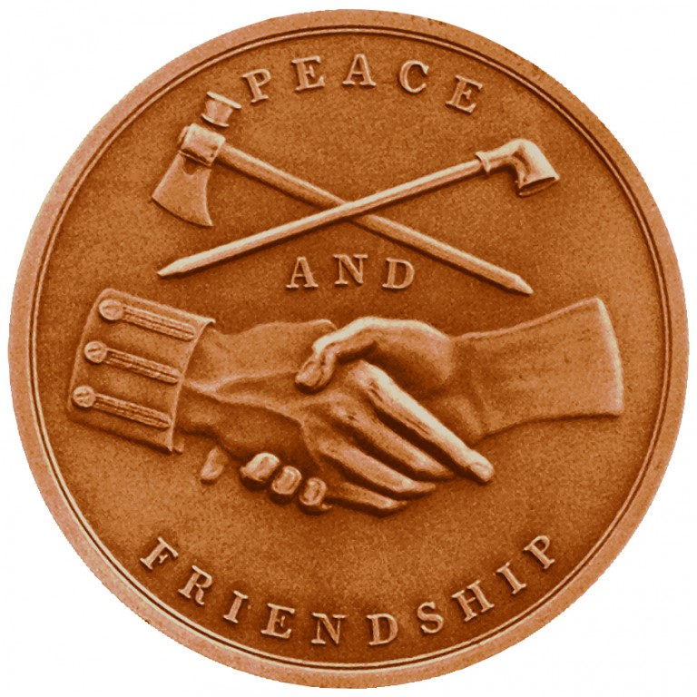 John Quincy Adams Presidential Bronze Medal Reverse