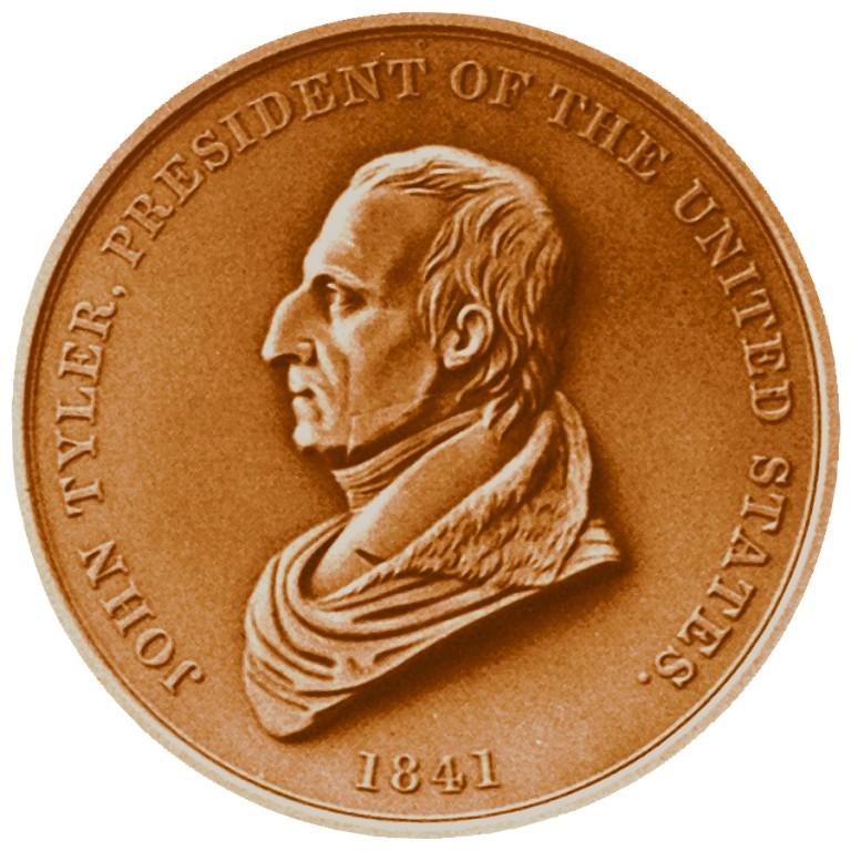John Tyler Presidential Bronze Medal Obverse